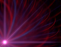 Pink dawn. A pink sun at dawn with blue and red rays Stock Illustration