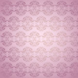 Pink Decorated Wall Stock Photography