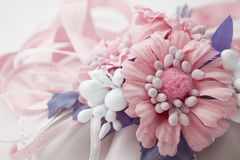 Pink decoration baby girl birth Royalty Free Stock Photos