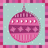 Pink decoration greeting card Stock Images