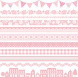 Pink decoration. Set of pink decoration. pink banner texture Stock Photo