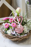 Pink decoration. Spring pink decoration with tulips Stock Images