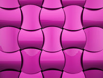 Pink decorative background from waves Stock Photo