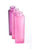 Pink Decorative Bottles. On a white background Royalty Free Stock Images