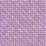 Pink decorative brickwork seamless texture. Decoration of walls or floor for interiors and exteriors Stock Photo