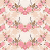 Pink flower pattern Stock Images