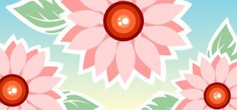 Pink decorative flowers Stock Image