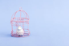 Pink Decorative Mini Wrought Iron Cages Stock Image