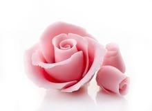Pink decorative sugar rose Stock Photo