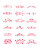 Pink Decorative Vector Curly Elements Royalty Free Stock Photography