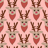 pink deer seamless pattern Stock Images