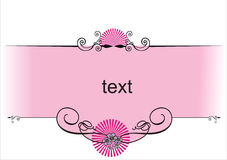 Pink design. Decorativ design with pink place for text Stock Images