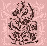 Pink design. In baroque style Stock Photography