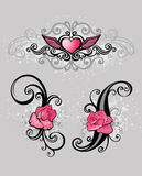 Pink design elements Royalty Free Stock Photo
