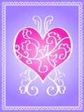 Pink designed heart Royalty Free Stock Photography