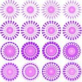 Pink designs. Pink circular ornamental design patterns - VECTOR Stock Image