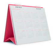 Pink Desk Calendar. 2015, isolated on white, file includes a excellent clipping path stock photos
