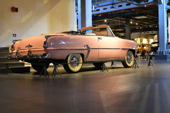 Pink Desoto Diplomat Convertible 1954 model in Heritage transport Museum in Gurgaon, Haryana India. Editorial: Gurgaon, Haryana, India: April 09th, 2016: Pink Royalty Free Stock Images