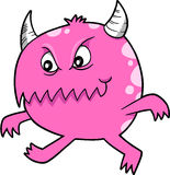 Pink Devil Monster Vector Royalty Free Stock Image