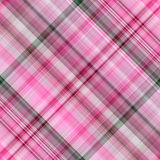 Pink diagonal squared seamless gingham pattern. Royalty Free Stock Photography