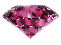 Pink Diamond. Isolated over a white background. Clipping path included Royalty Free Stock Images