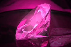 Pink Diamond. Diamond Shaped Crystal in Pink with nice reflections Royalty Free Stock Image