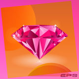 Pink diamond. Available in vector vector illustration