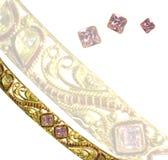 Pink diamond bangle Royalty Free Stock Photography