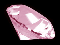 Pink Diamond Crystal (Side) Royalty Free Stock Image