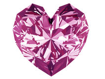 Pink diamond heart Royalty Free Stock Photography