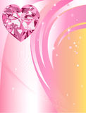 Pink Diamond Heart Background Royalty Free Stock Images