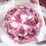 Pink diamond impression Royalty Free Stock Images