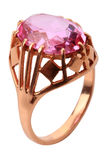Pink diamond ring Stock Image