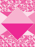 Pink Diamond Shape. Illustration of pink color white diamond shape. Center is you sample text or icon. --- This .eps file info Version: Illustrator 8 EPS Vector Illustration