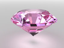 Pink diamond with soft shadows Royalty Free Stock Image