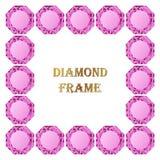 Pink Diamond Square Frame Royalty Free Stock Photos