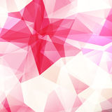 Pink diamond texture, abstract background. Pink diamond texture, close-up. Geometric polygonal pattern. Vector illustration. Abstract pink background Royalty Free Stock Image