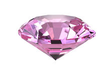 Pink diamond on white background Royalty Free Stock Photography