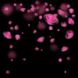 Pink diamonds background Royalty Free Stock Images