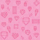 Pink diamonds Stock Image