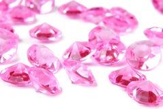 Pink diamonds. On white background Royalty Free Stock Photos