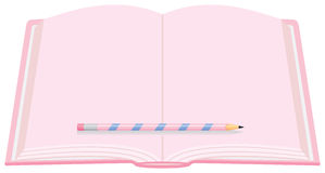 Pink Diary with Pencil Royalty Free Stock Images