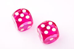 Pink dices Royalty Free Stock Photo