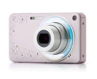 Pink digital compact camera Royalty Free Stock Photo