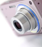 Pink digital compact camera Royalty Free Stock Photography
