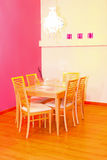 Pink dinning Stock Photo