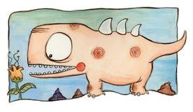 Pink dinosaur Royalty Free Stock Image