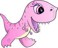 Pink Dinosaur Vector Stock Images
