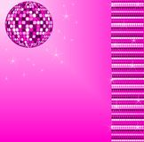 Pink disco ball Stock Images