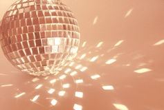 Pink disco ball Stock Photo